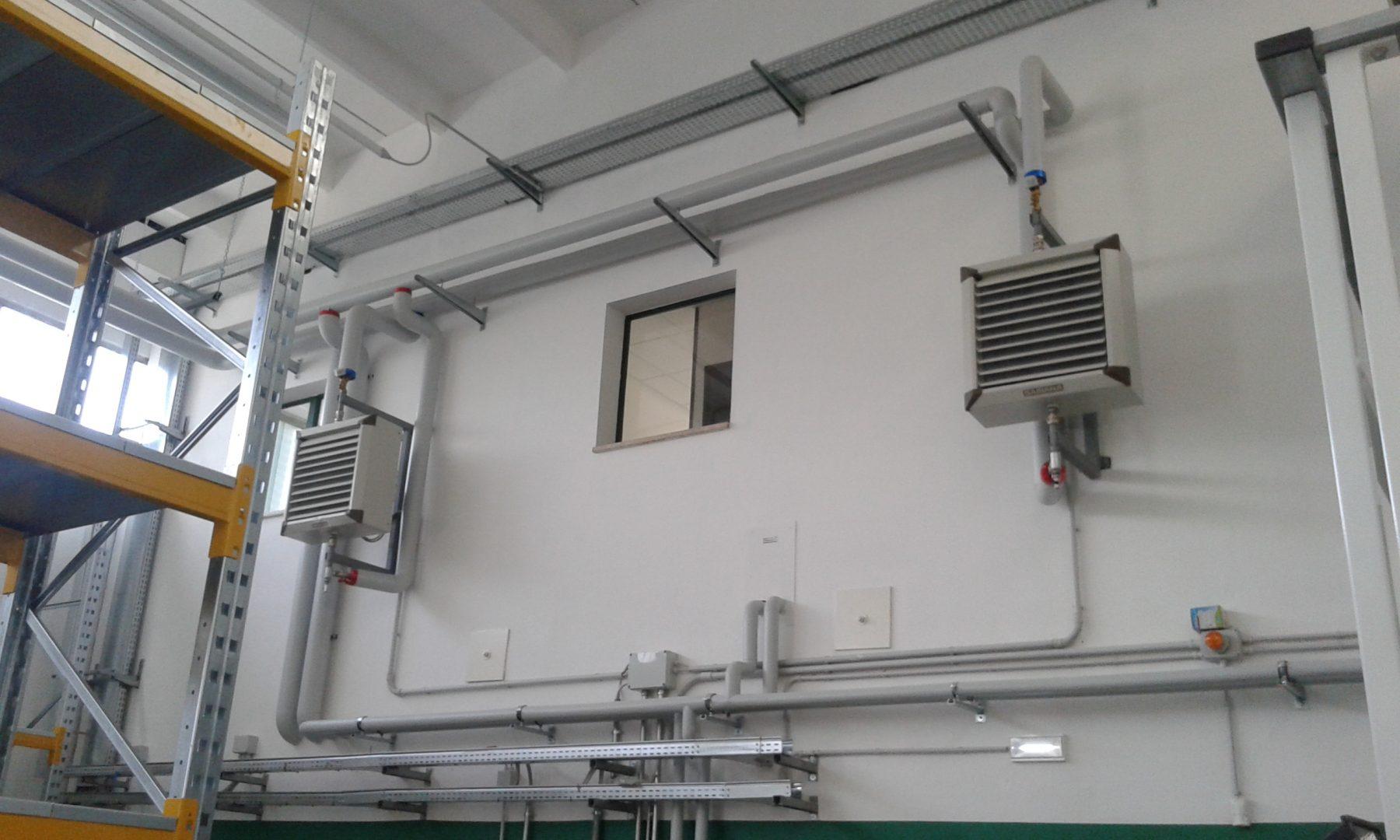 Ristrutturazione dell'impianto termico in capannone artigianale
