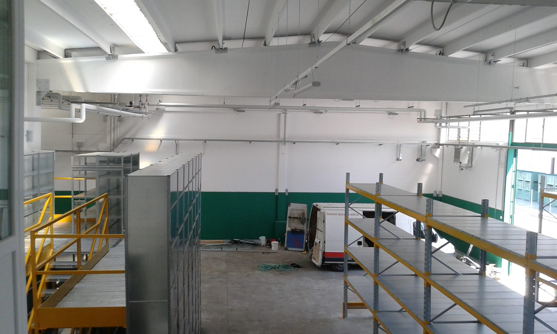 Intervento di ristrutturazione dell'impianto termico in capannone artigianale
